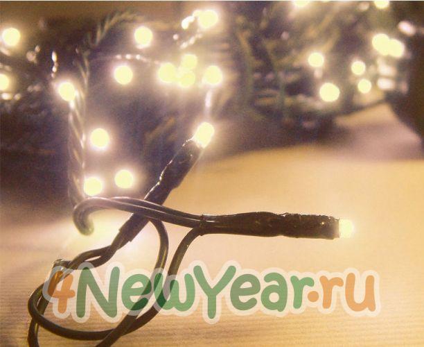 Гирлянда светодиодная Mister Christmas (зеленый; теплый белый; 160 лампочек) .